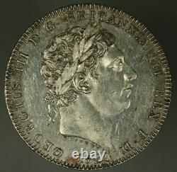 Grande-bretagne Couronne 1820 George III Année Du Règne LX Au/unc Quelques Lignes De Cheveux A2463