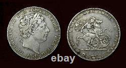 Grande-bretagne, Couronne 1820, Lx, George III Argent. 925