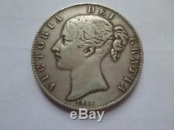 Grande-bretagne Couronne 1844 Buste De La Reine Victoria De Nice Détails Km # 741