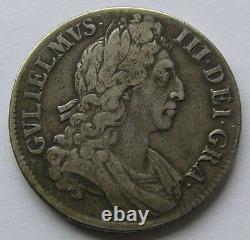 Grande-bretagne Couronne D'argent 1696 Guillaume III