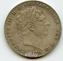 Grande-bretagne Crown 1820 LX George III Britannique Argent Haute Qualité