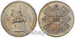 Grande-bretagne. Elizabeth II 1953 Couronne Cuivre-nickel. Ngc Pr66+ Cameo Scbc-4136