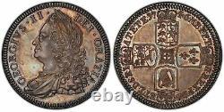 Grande-bretagne George II 1746 Ar Crown. Pcgs Pr64 Scbc-3690 Esc-1669