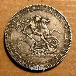 Grande-bretagne George III Silver Crown 1818 LIX Détail -voir Images
