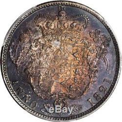 Grande-bretagne George IIII 1821 Demi-couronne D'argent Coin, Certifié Gpc Au-58