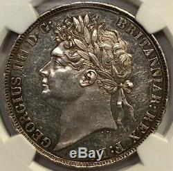 Grande-bretagne George IIII Silver Crown 1821 Secundo Ngc Détails Unc (de Cln)