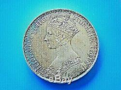 Grande-bretagne Gothique Crown 1847. Vittoria, Corona Gotica Pièce Rr
