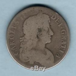 Grande-bretagne Médaille Christening. Gravé Sur Charles 11 (1668) Couronne. Vg / G