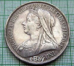 Grande-bretagne Queen Victoria 1893 Crown St George Cheval D'argent Haut De Gamme