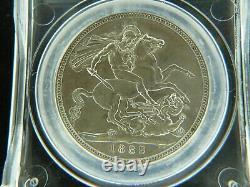 Grande-bretagne Royaume-uni 1889 Couronne D'argent Cgs Ef60