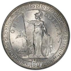 Grande-bretagne Royaume-uni 1930 B Commerce Dollar Chine $ 1 Argent Monnaie Pcgs Ms63 Choix Bu