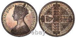 Grande-bretagne Victoria 1847 Ar Gothic Crown. Pcgs Pr63 Un Decimo Esc-2571