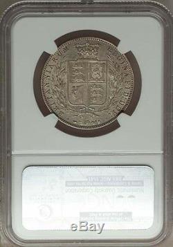 Grande-bretagne Victoria 1874 Demi-couronne Presque Ongecirculeerd Certifié Ngc Au-58