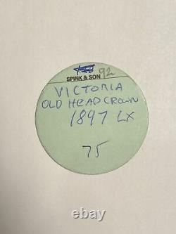Grande-bretagne Victoria 1897-lx Ar Crown. Pcgs Ms63. S-3937 Esc-2602