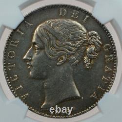 Grande-bretagne Victoria Crown 1845 Ngc Au Rare Grade