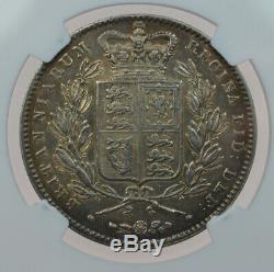 Grande-bretagne Victoria Crown 1845 Ngc Au Rare Qualité