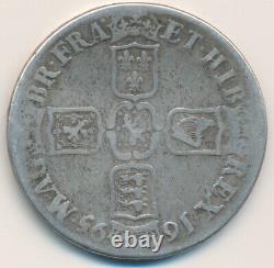 Grande-bretagne William III Couronne 1695 Septimo S3470 Km486 Vg +