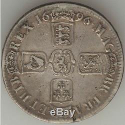 Grande-bretagne William III Couronne 1696, Km494.1. Silver Coin
