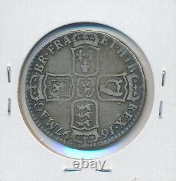 Grande-bretagne William III Half Crown 1697 C F