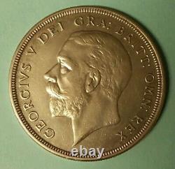 Großbritannien Grande-bretagne 1 Couronne Kranz-krone 1928 Ss-vz Silber M422
