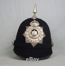 Kings Crown Devonshire Régiment Black Cloth Home Service Spikehelmet