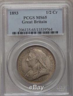 La Moitié De La Couronne 1893 Gpc Mme 65 1/2 Cr Grande-bretagne