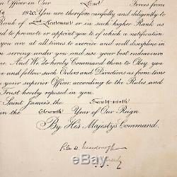 Le Roi George V Signé Nomination Autograph Document De La Couronne Dowton Abbaye Royale