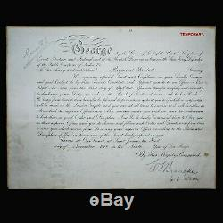 Le Roi George V Signé Nomination Document Autograph Dowton Abbaye De La Couronne Royale