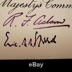 Le Roi George VI Document Signé Autograph Nomination Couronne Downton Abbey Libre