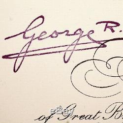 Le Roi George VI Signé Nomination Autograph Document De La Couronne Dowton Abbey Seconde Guerre Mondiale