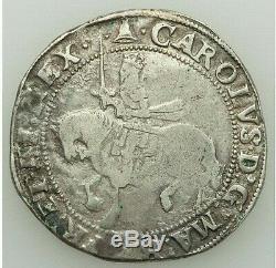Nd (1625-1635) Grande-bretagne Charles I Argent 1/2 Couronne
