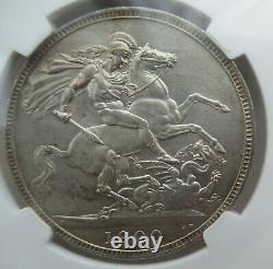Ngc Ms62 Grande-bretagne 1900 Au Royaume-uni Reine Victoria Silver Coin 1 Couronne