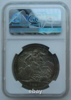 Ngc Ms63 Grande-bretagne Royaume-uni 1887 Queen Victoria Silver Coin 1 Couronne