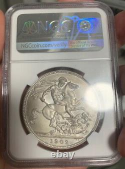 Ngc Pf64 + Matte Grande-bretagne Royaume-uni 1902 King Edward VII Argent Monnaie 1 Couronne