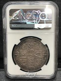 Ngc Pr61 Grande-bretagne Royaume-uni 1847 Queen Victoria Gothique Proof Silver Coin 1 Couronne