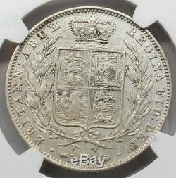 Ngc Xf Royaume-uni Grande-bretagne 1842 Victoria Les Jeunes Tête Demi 1/2 Piece En Argent De La Couronne