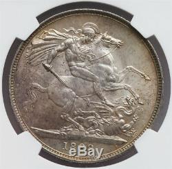 Ngc-ms63 1888 Grande-bretagne Couronne D'argent Date Clé