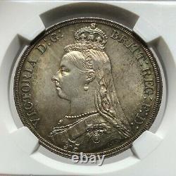 Ngc-ms63 Grande-bretagne 1887 Victoria Crown Silver Coin