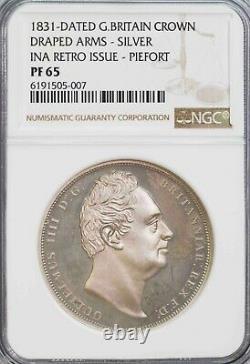 Ngc-pf65 1831 Daté Grande-bretagne Couronne Ina Rétroémission Piefort Proof