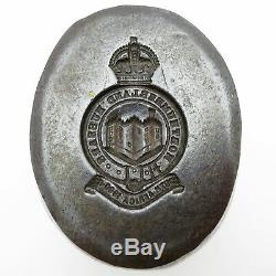 Northumberland Hussards Antique King's Crown Yeomanry Badge Die Armée Britannique