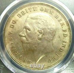 Pcgs Ms64 Gold Shield-grande-bretagne 1935 George V Silver One Crown Choice Bu