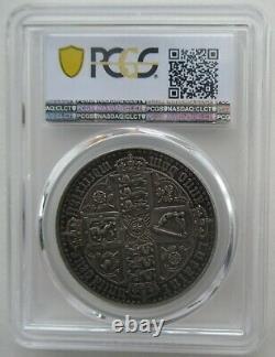Pcgs Pr61 Grande-bretagne Royaume-uni 1847 Queen Victoria Gothique Proof Silver Coin 1 Couronne