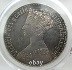 Pcgs Pr61 Grande-bretagne Royaume-uni 1847 Reine Victoria Gothic Proof Silver Coin 1 Couronne