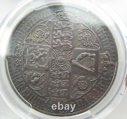 Pcgs Pr62 Grande-bretagne Royaume-uni 1847 Reine Victoria Gothic Proof Silver Coin 1 Couronne