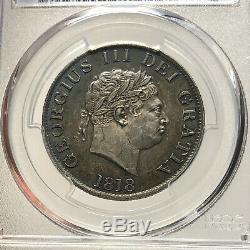 Pcgs-ms63 Grande-bretagne George III 1818 Half Crown Silver Coin