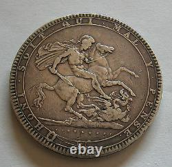 Royaume-uni-grande-bretagne-roi George Iii-couronne 1819 LIX -no Edge Stops Km#675, G3cr-230