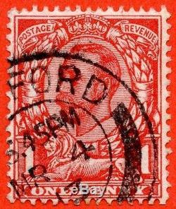Sg. 343a. N11 (5) D. Écarlate 1d Aniline. No Croix Sur La Couronne Très Fine Cds