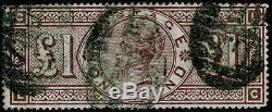 Sg185, Scarce £ 1 Brun-lilas, Utilisé. Cat £ 3000. Wmk Ecus. LC
