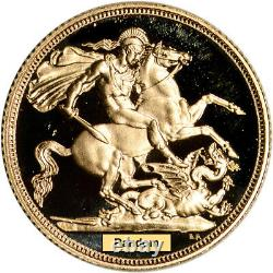 Souverain D'or De Grande-bretagne. 2354 Oz Elizabeth II Crown Proof Random Date