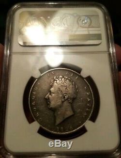 Très Rare Image De Demi-couronne Erreur Miroir Brockage 1826 Grande-bretagne Ngc Classé